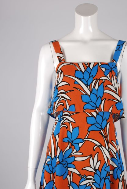Topshop Tiered Floral Mini Dress - Size 10 - Front Detail