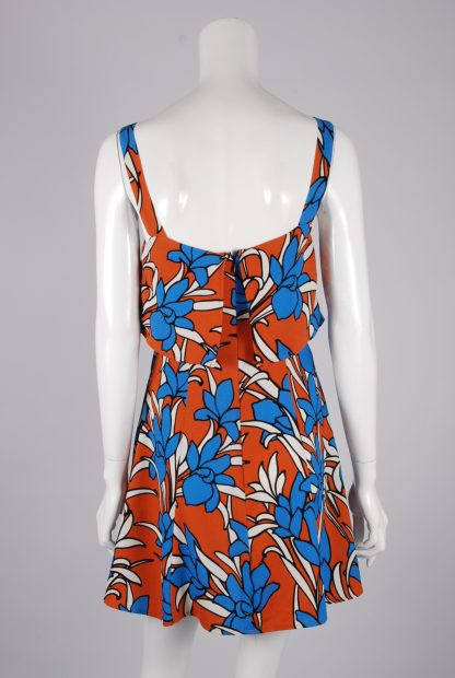 Topshop Tiered Floral Mini Dress - Size 10 - Back