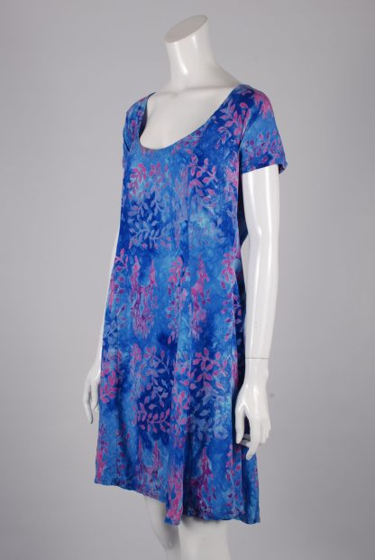 Barracuda Bazaar Rayon Tie Die Mini Dress - Size M - Side