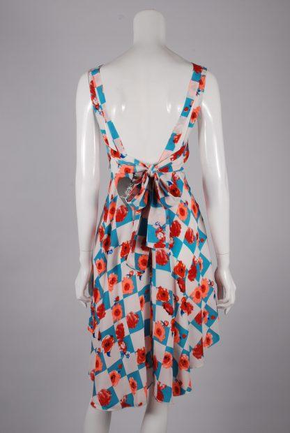 Sweet Poison Checkerboard Skater Dress - Size 10 - Back