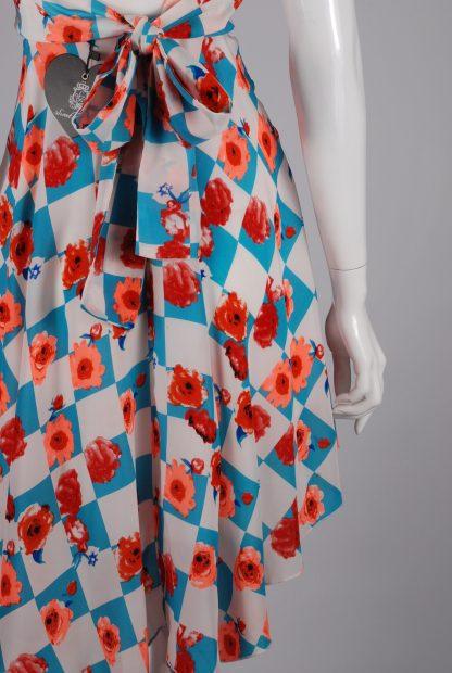 Sweet Poison Checkerboard Skater Dress - Size 10 - Back Skirt