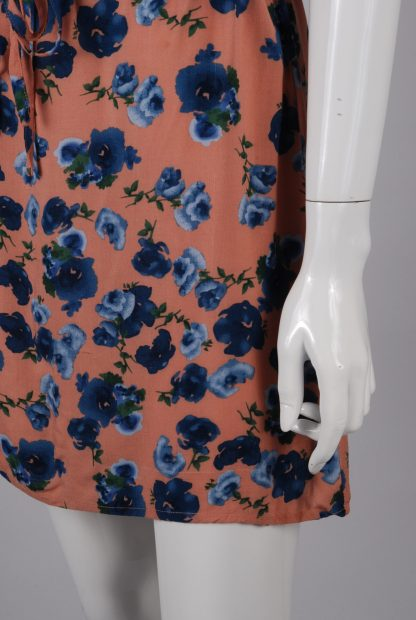 Warehouse Floral Mini Dress - Size 8 - Side Skirt
