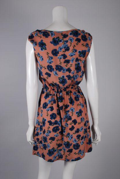 Warehouse Floral Mini Dress - Size 8 - Back