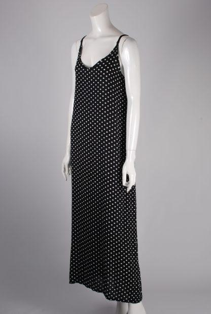 Yidarton Black & White Polka Dot Dress - Size XL - Side