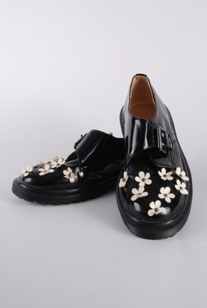 ASOS Black Patent Flower Decal Shoes - Size 8 - Front