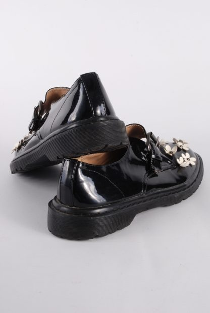 ASOS Black Patent Flower Decal Shoes - Size 8 - Back