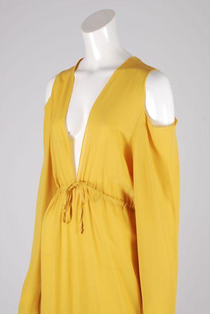 Boohoo Yellow Sheer Kimono Jacket - Size S/M - Side Detail