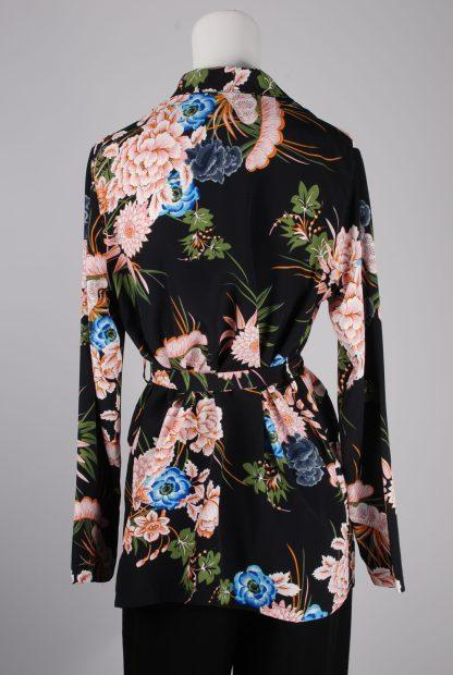 Boohoo Floral Belted Jacket - Size 10 - Back