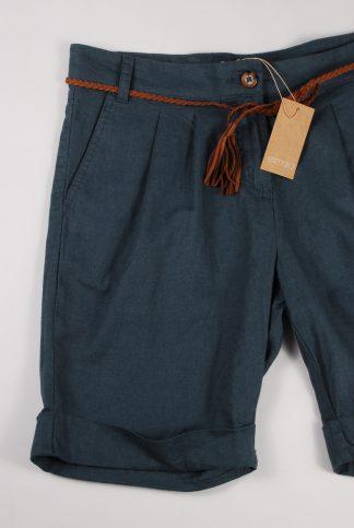 Esmara Blue/Green Linen Mix Shorts - Size 12 - Front Detail