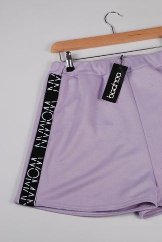 Boohoo Woman Purple Shorts - Size 16 - Front Detail