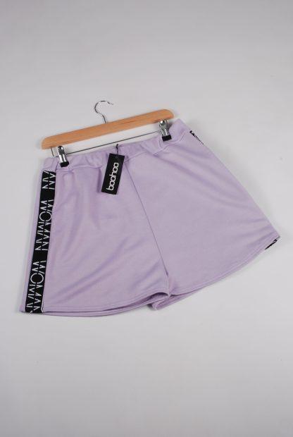 Boohoo Woman Purple Shorts - Size 16 - Front