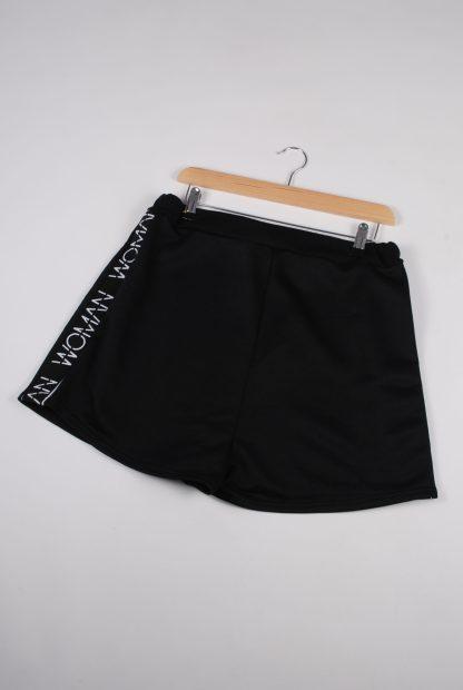 Boohoo Woman Black Shorts - Size 16 - Back