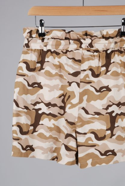 Missguided Pink & Brown Camo Print Shorts - Size 10 - Back Detail