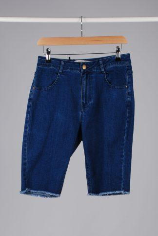 London Crew Raw Hem Denim Shorts - Size S - Front