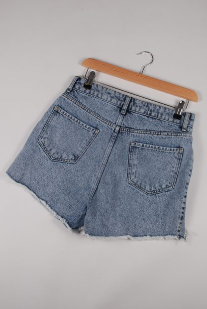 Boohoo Denim Cut Out Shorts - Size 10 - Back