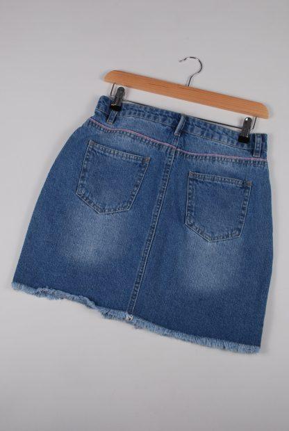 Boohoo Button Front Denim Skirt - Size 10 - Back