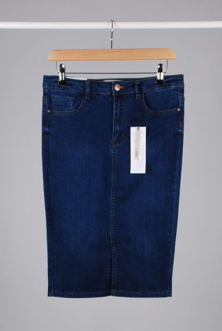 New Look Denim Pencil Skirt - Size 10 - Front