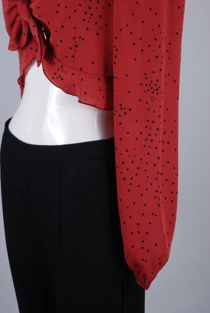 Nasty Gal Fleck Pattern Crop Top - Size 10 - Side Hem