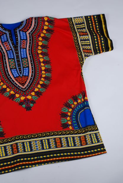 Red Abstract Pattern Oversized Top - Size L - Back