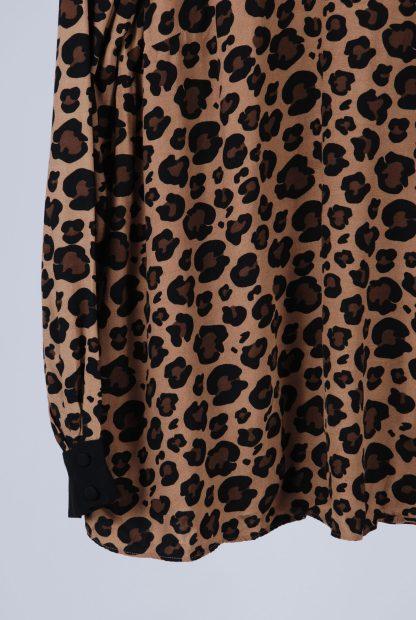 Hobbs Animal Print High Neck Blouse - Size 10 - Front Hem
