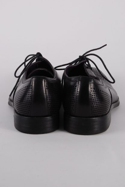 Gucinari Black Leather Lace Up Shoes - Size 8 - Back Detail