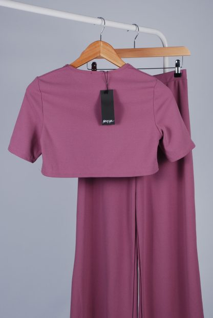 Nasty Gal Purple 2 Piece Co-Ord - Size 10 - Back
