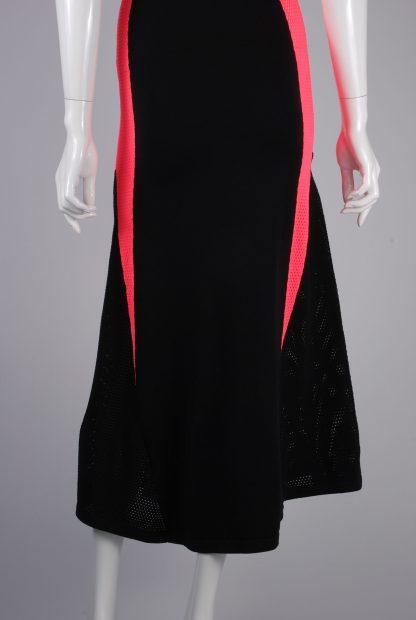 Adidas Mesh Panel Maxi Dress - Size 8 - Back Hem Detail