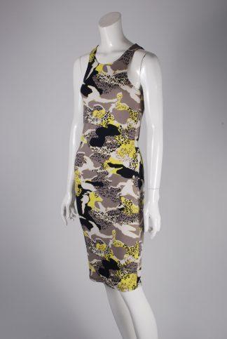 River Island Animal Print Bodycon Dress - Size 8 - Side
