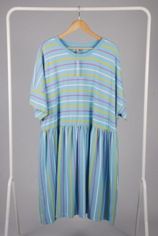 ASOS Curve Striped Jersey Smock Dress - Size 26 - Front