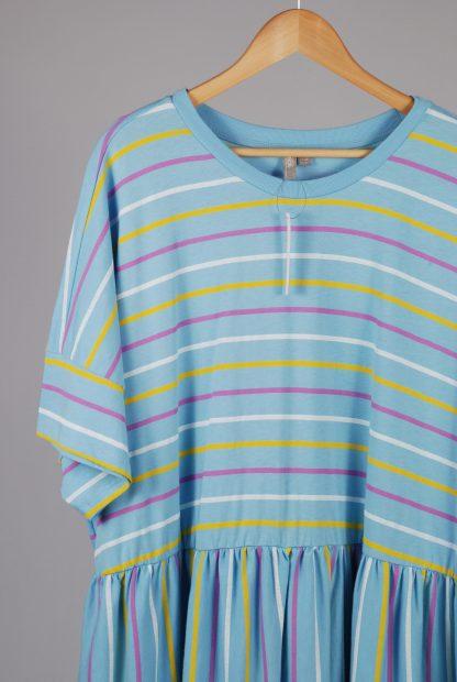 ASOS Curve Striped Jersey Smock Dress - Size 26 - Front Detail