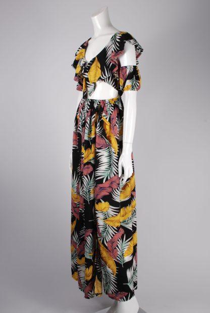 Boohoo Jungle Print Maxi Dress - Size 10 - Side