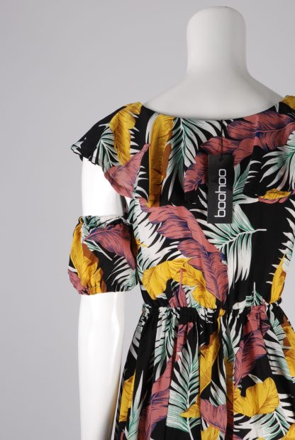 Boohoo Jungle Print Maxi Dress - Size 10 - Back Detail