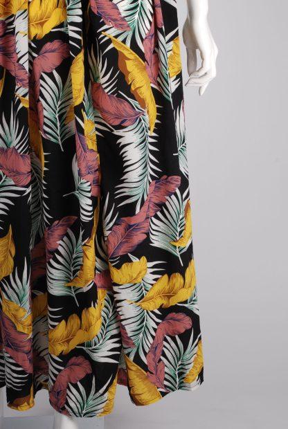 Boohoo Jungle Print Maxi Dress - Size 10 - Back Hem