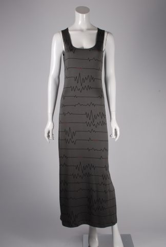 Hennes 'Electrify' Slogan Maxi Dress - Size 8 - Front
