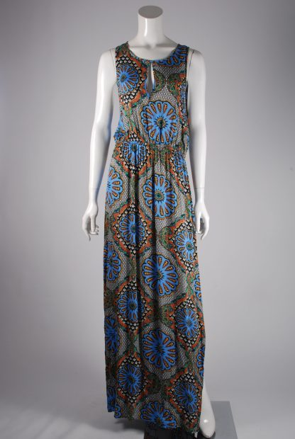 MINKPINK Abstract Pattern Maxi Dress - Size M - Front