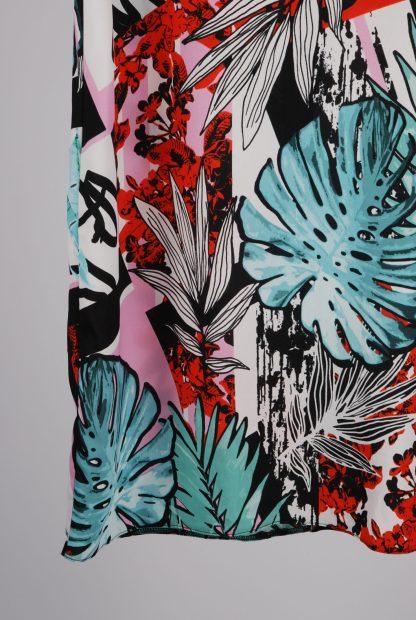 Lipsy Leaf Pattern Shift Dress - Size 10 - Front Hem