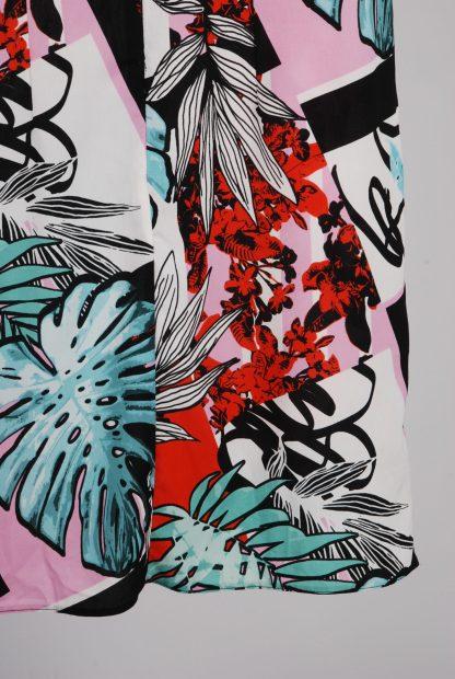 Lipsy Leaf Pattern Shift Dress - Size 10 - Back Hem