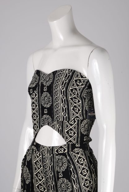 Hollister Abstract Pattern Strapless Jumpsuit - Size M - Side Detail