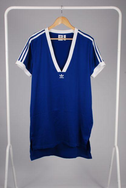 Adidas Blue Mini T-Shirt Dress - Size 12 - Front