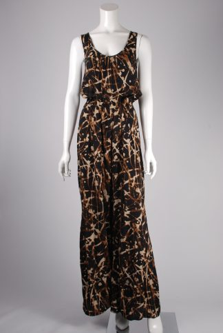 Dorothy Perkins Black & Brown Jumpsuit - Size 8 - Front