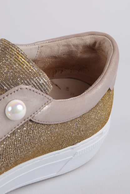 Gabor Gold Tone Shimmering Trainers - Size 5 - Inside