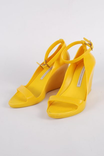 Melissa For Alexandre Herchcovitch Yellow Wedges - Size 6 - Front