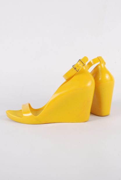 Melissa For Alexandre Herchcovitch Yellow Wedges - Size 6 - Side