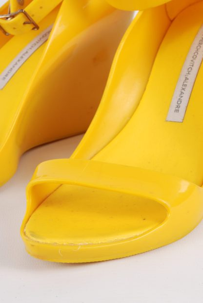 Melissa For Alexandre Herchcovitch Yellow Wedges - Size 6 - Front Detail