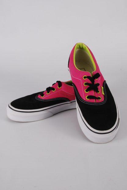 Vans Neon Pink & Green Trainers - Size 2 - Front
