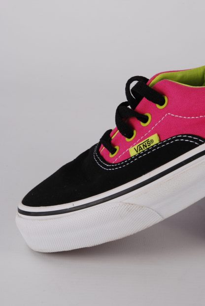 Vans Neon Pink & Green Trainers - Size 2 - Side Detail