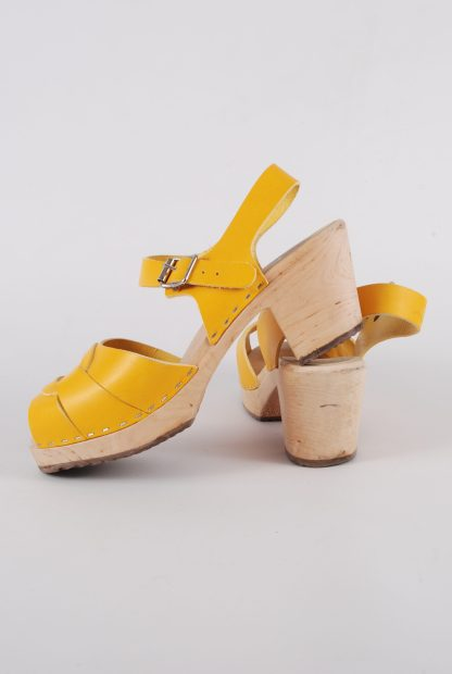 Lotta From Stockholm Yellow Clog Sandals - Size 6 - Side