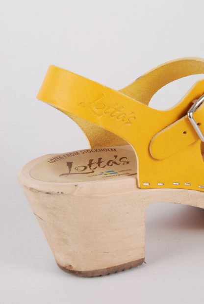 Lotta From Stockholm Yellow Clog Sandals - Size 6 - Branding