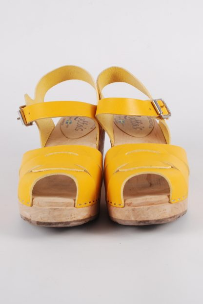 Lotta From Stockholm Yellow Clog Sandals - Size 6 - Front Detail