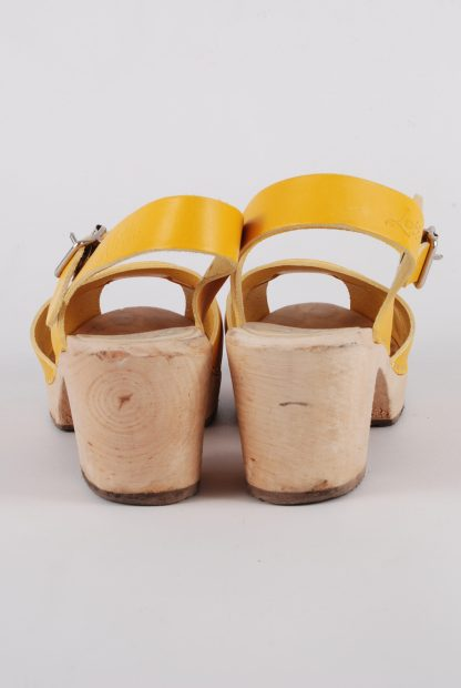 Lotta From Stockholm Yellow Clog Sandals - Size 6 - Back Detail